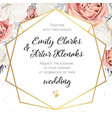 floral wedding invitation invite card design vector image