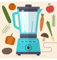 Food processor mixer blender and vegetables vector image vector image