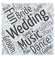 Fun wedding music activities Word Cloud Concept vector image vector image