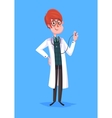Funny doctor character Isolated vector image vector image