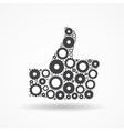 Gear Icon Success Symbol vector image