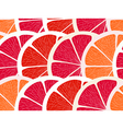 Grapefruit segments seamless background vector image vector image