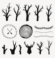 graphic set with forest design elements branches vector image vector image