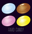 group of colorful hard candy vector image