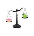 healthy versus unhealthy food vector image vector image