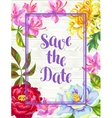 Invitation card with China flowers Bright buds of vector image vector image