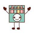 kawaii crayon box graphic design creative cartoon vector image
