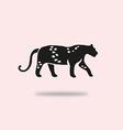 leopard symbol vector image vector image