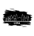 lima peru city skyline silhouette hand drawn vector image vector image