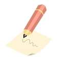 Pencil icon cartoon style vector image vector image