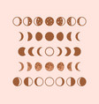 phases moon boho moon vector image