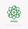physics thin line icon vector image