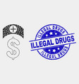 pixel medicine price icon and grunge vector image vector image
