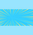 pop art sun blue background vector image