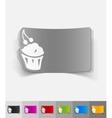 realistic design element cake vector image