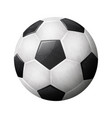 realistic soccer ball on white background eps 10 vector image vector image