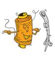 reel and needle cartoon vector image vector image
