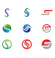 s logo and symbols template icons vector image
