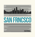 san francisco graphic t-shirt design tee print vector image