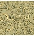 Seamless hand drawn texture of shells vector image vector image