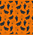 seamless pattern background with halloween vector image vector image