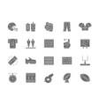 set american football grey icons fast food vector image