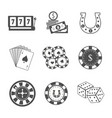 set of gambling accessories vector image vector image