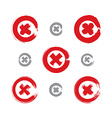 Set of hand-drawn close icons scanned and vector image vector image
