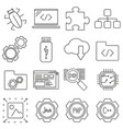set of icons in line style programming vector image
