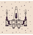 space craft fighter jet futuristic icon drawing vector image vector image
