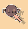 sticker play sign flat style icon on background vector image vector image