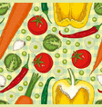 summer seamless pattern with vegetables vector image vector image