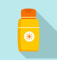 sun lotion icon flat style vector image