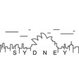 sydney outline icon can be used for web logo vector image vector image