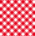 Table diagonal cloth seamless pattern red middle vector image vector image