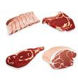 uncooked organic beef pork lamb meat vector image vector image