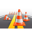 under construction cones vector image