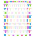 vertical greeting card with set of cartoon flag vector image vector image