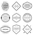 Vintage Brand Badges Collection vector image vector image