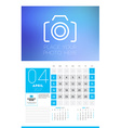 Wall calendar planner print template for 2017 year vector image