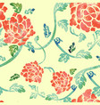 watercoloured flowers and leaves vector image vector image