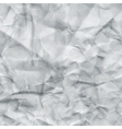 White Crumpled Paper Texture vector image vector image