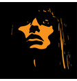 woman face in contrast light vector image