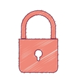 security padlock icon vector image