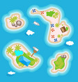 tropical islands set top view above in the ocean vector image