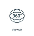 360 view icon monochrome style design from visual vector image vector image