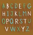 alphabet english language character draw ca vector image