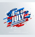 banner for independence day of the usa vector image