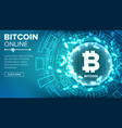 bitcoin abstract technology background vector image vector image