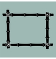 Black bamboo frame background